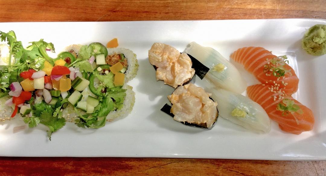 Sushi Den plate